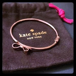 Rose Gold Kate Spade Hinged Bangle Bracelet BOW